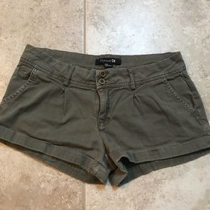 Army Green Forever 21 Shorts